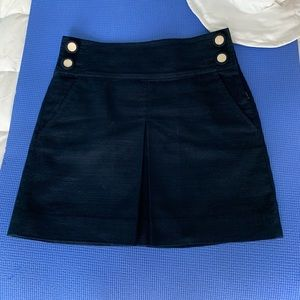 J. Crew Nautical & Nice Woven Navy Skirt